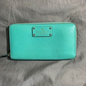 Kate Spade mint color wallet